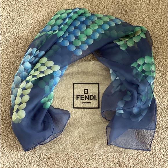 Fendi Foulard Silk Scarf